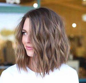 modern lob hair style
