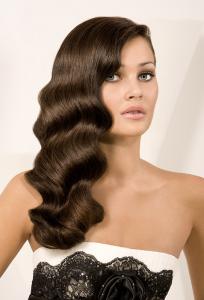 vintage waves hair